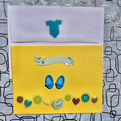 Blank Baby Shower Greeting Card (Boy)