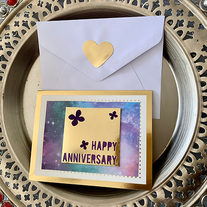 Blank Anniversary Greeting Card