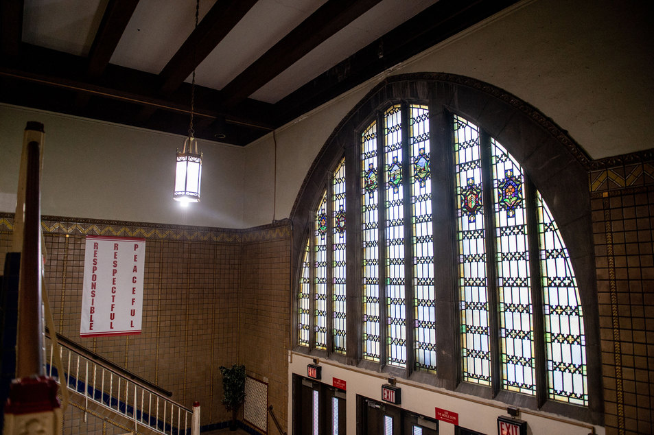 Penn Treaty School Marble Entry