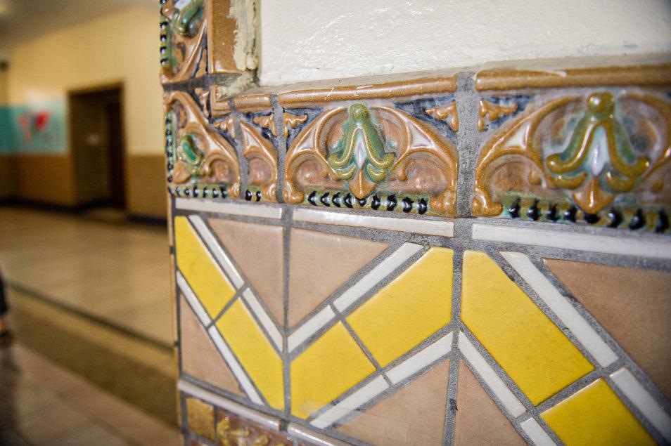 Penn Treaty School Tile Detail