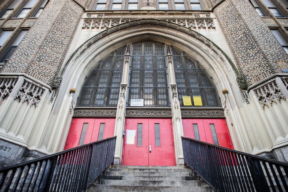 Penn Treaty School Front Entrance