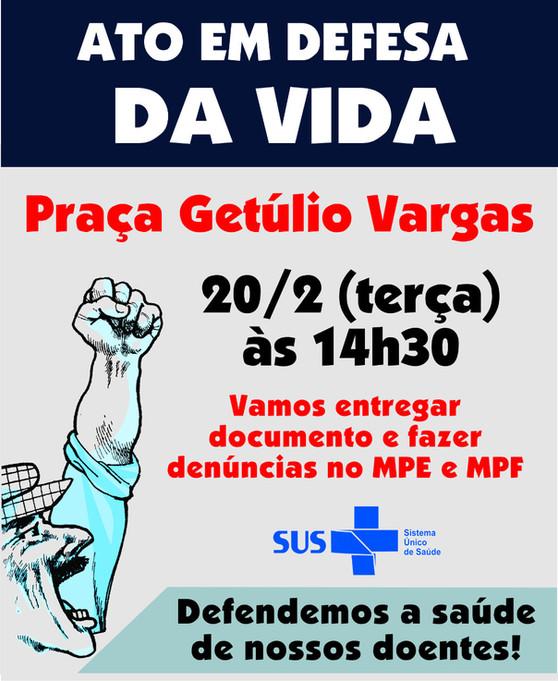 Ativistas e entidades organizam ato em defesa da saúde de Guarulhos