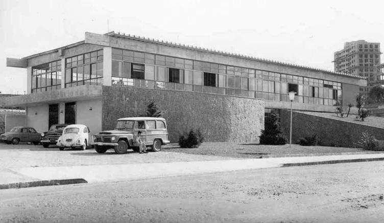 Biblioteca central em 1969. Foto:Arquivo/PMG