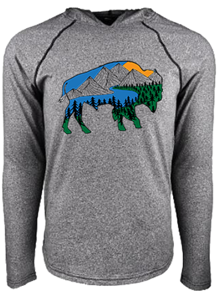 River Bison Hooded Tee