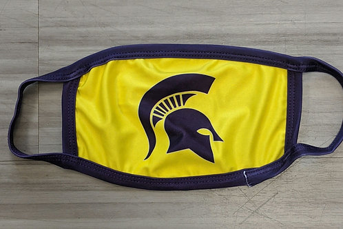 Yellow Spartan Adult Face Mask