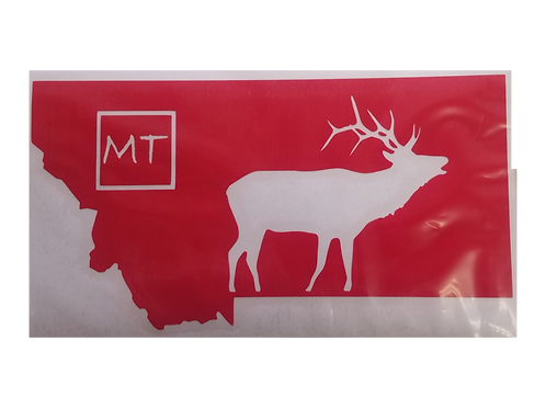 MT Elk Vinyl Decal