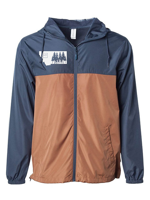 MT Tree Windbreaker-Navy/Orange