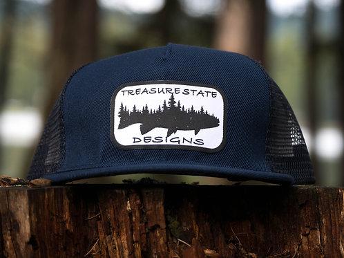 Fishwood Flat Bill Snapback Hat
