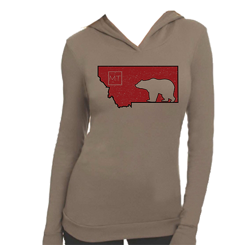Lady Griz Thermal Hooded Tee