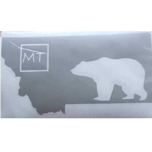 MT Grizzly Vinyl Decal