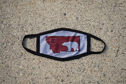 MT Griz Silver Adult Face Mask