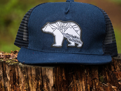 Griz of the Rising Sun Flat Bill Snapback Hat