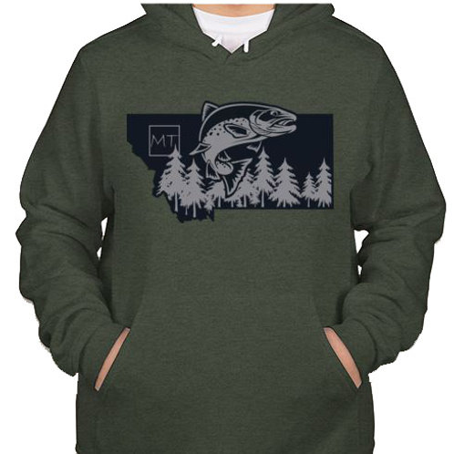 Flying Trout Hoody