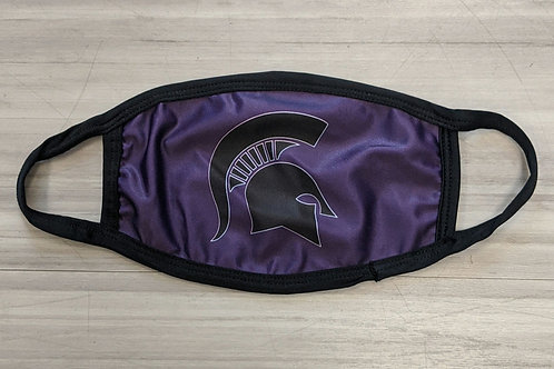 Purple Spartan Youth Face Mask