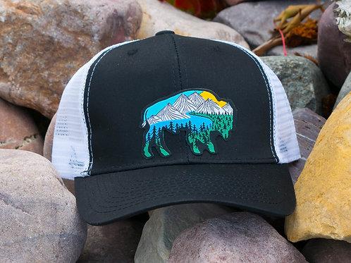 River Bison Flatbill Snapback Hat