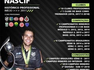 Alex Nascif completa seu 10º Clube Profissional