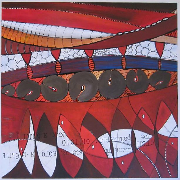 70x70 Acrylique sur toile