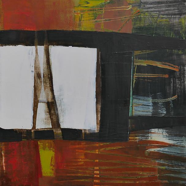50x50 Acrylique sur toile (Triptyque)