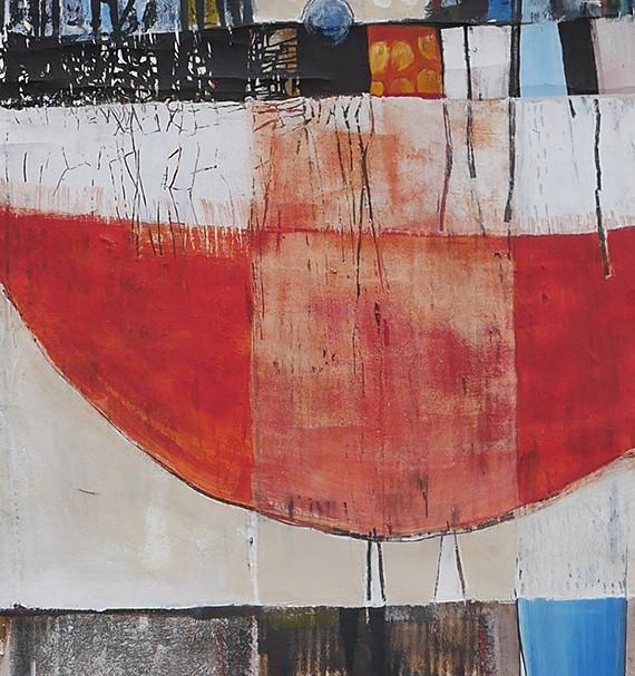 46x205 Acrylique sur drap