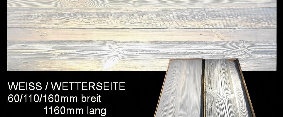 Scheunenholz weiß