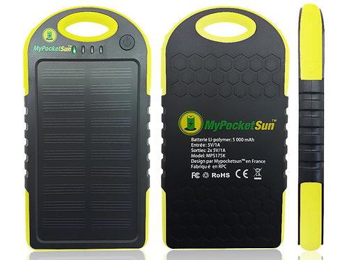 CHARGEUR SOLAIRE USB - 5 000 mAh - Jaune