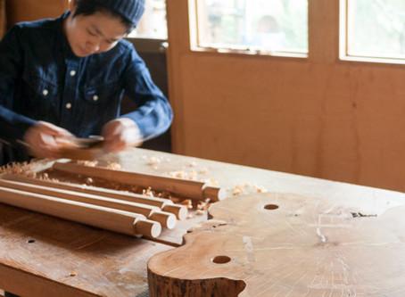 サイドテーブル(木工教室)
