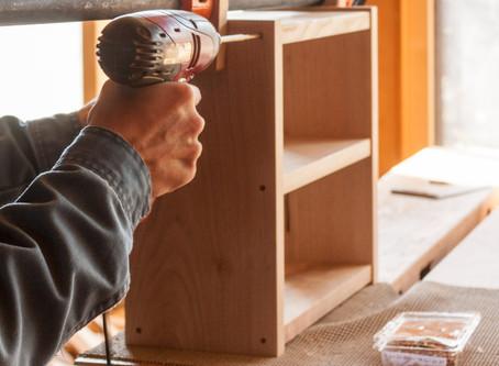 小さい棚 (木工教室)