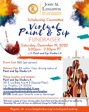 Langston Virtual Paint & Sip Fundraiser(