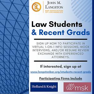Law Student & Recent Grads Flyer(11-5_ve