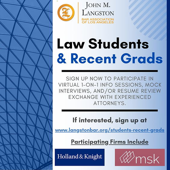 Law Student & Recent Grads Flyer(11-5_ve