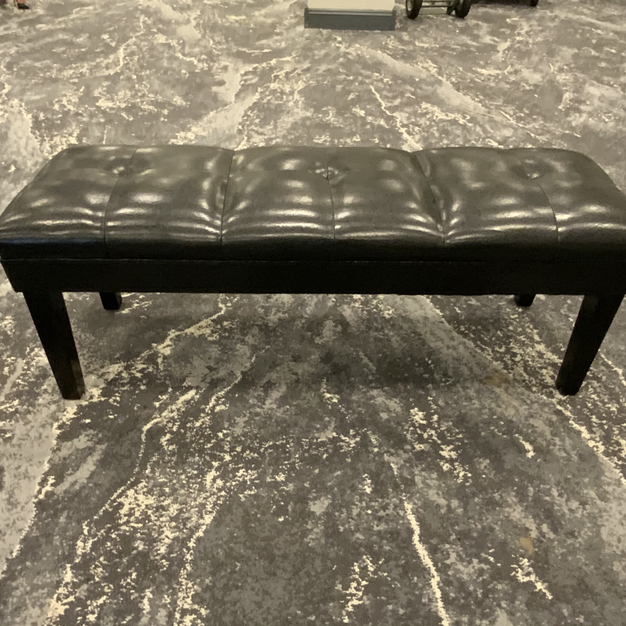Black Leather Bench