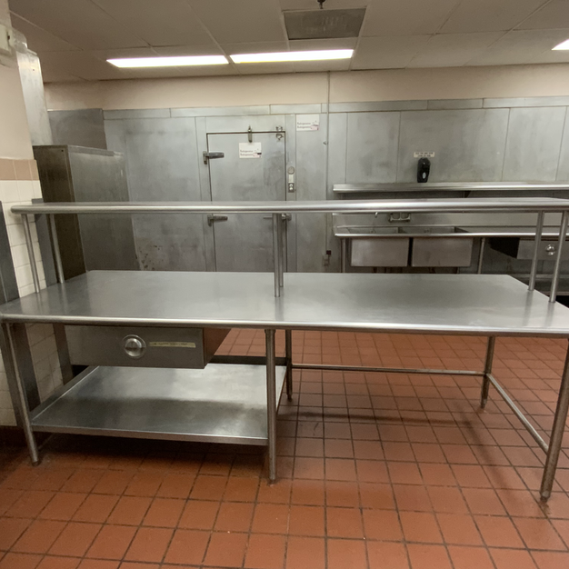 Stainless Steel Prep Table 2-Tier Large