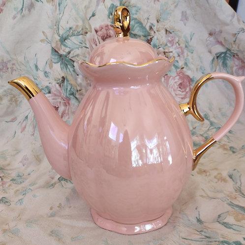 Pink & Gold Luster Teapot