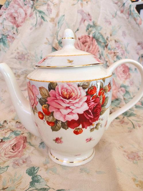 Peony & Strawberry teapot