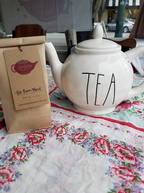 Rae Dunn 'TEA' pot & Tea Room Blend