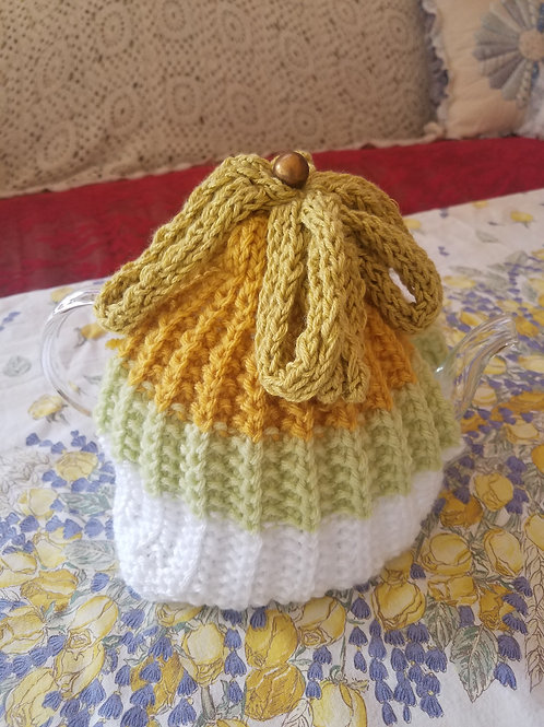 Green Ombre Cozy with Glass Teapot