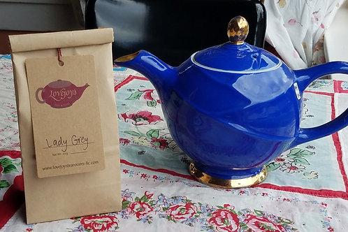 Hall Royal Blue Teapot & Lady Grey Tea
