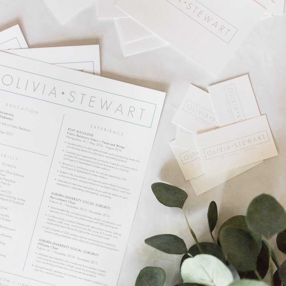 resume by eloise design co