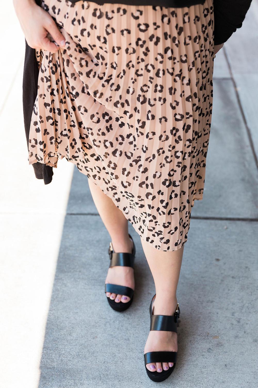 leopard skirt work wear