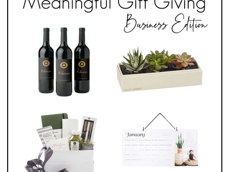 2020 Meaningful Gift Giving: Business Edition
