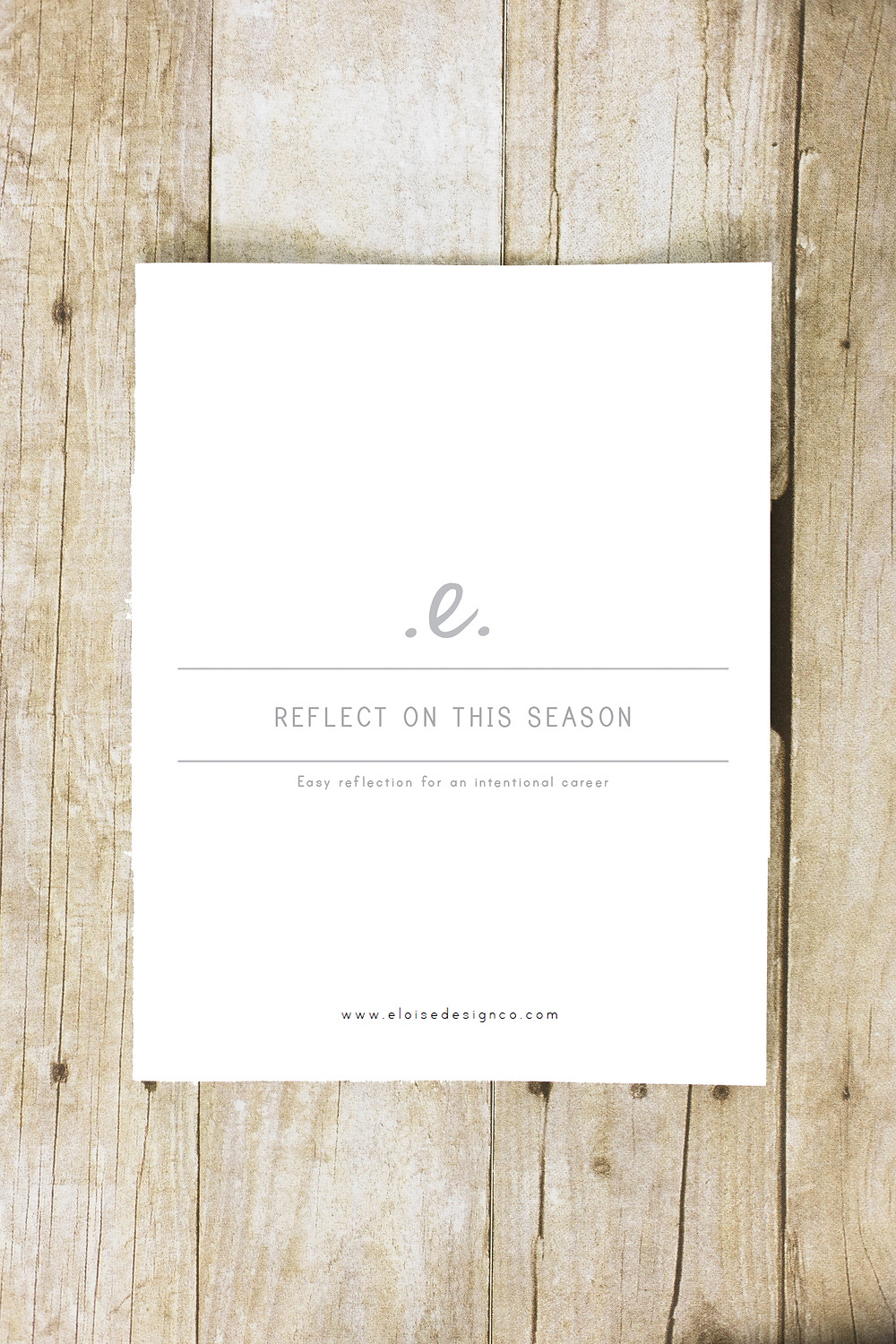 reflect on this season workbook