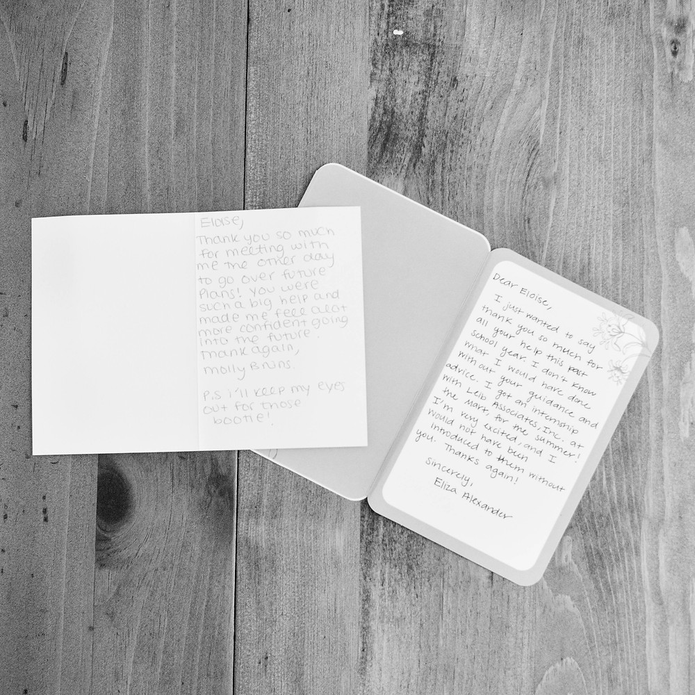 hand written thank you notes