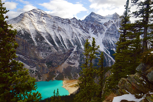 "12 X 24 Lake Louise from Beehive Art Canvas 3/4"" deep ready to hang"