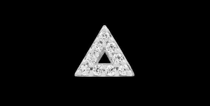 JUNIPURR JEWELRY WHITE GOLD TRIANGLE WITH SWAROVSKI CZ STONES
