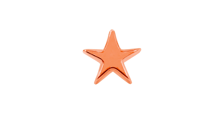 JUNIPURR JEWELRY ROSE GOLD STAR