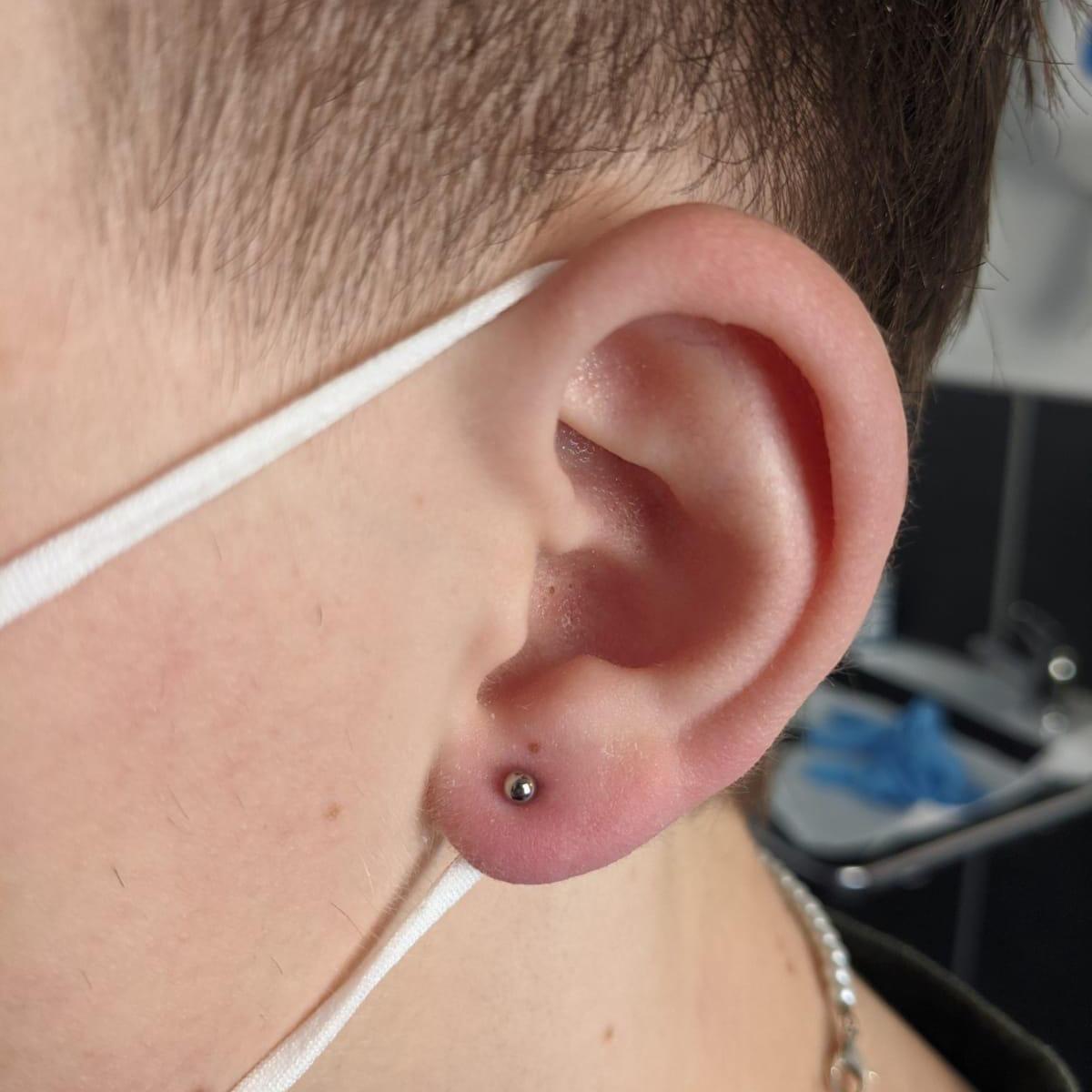 Single Lobe Piercing