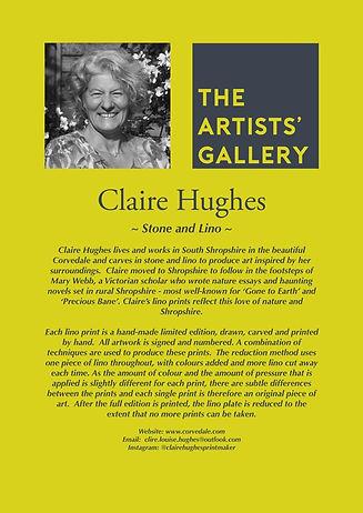Claire Hughes Artists Bio