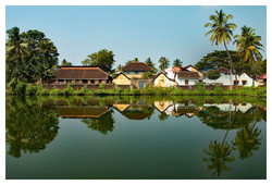 VILLAGE IN REFLECTION by Richard Peters