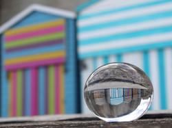 BEACH HUT REFLECTION by Kim Read