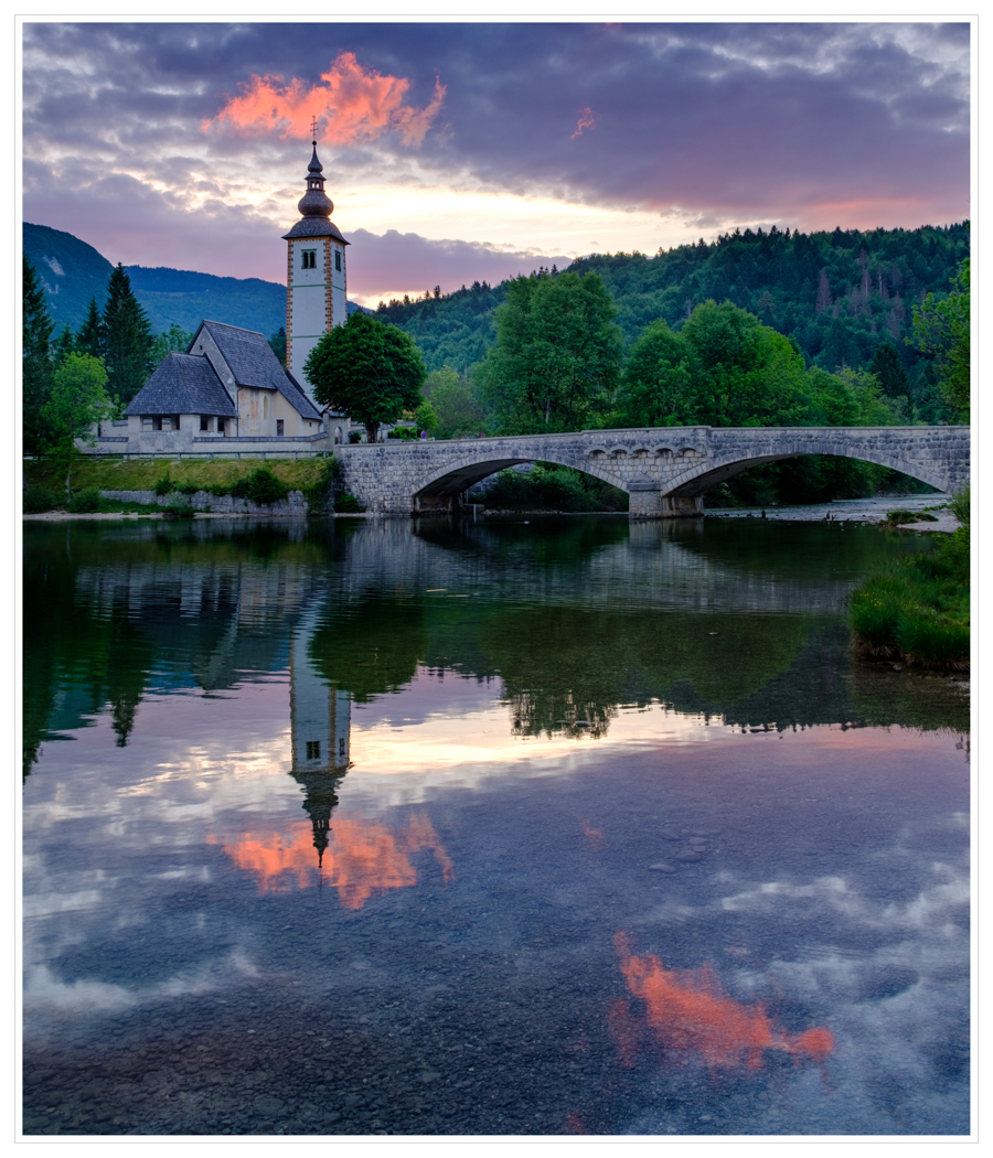 SUNRISE - LAKE BOHINJ by Chris Reynolds